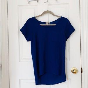Pacsun Kirra Sheer Royal Blue T-Shirt